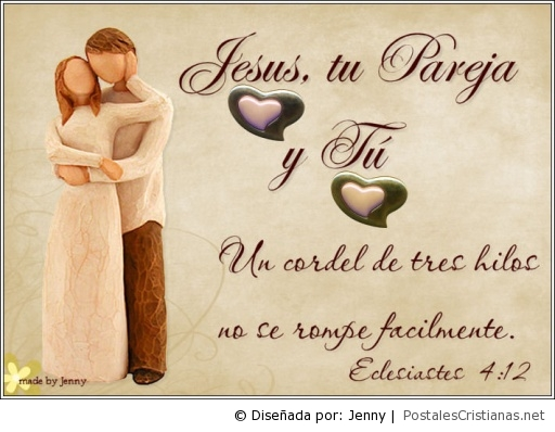 Jesus Matrimonio Biblia : Postal jesús tu y yo postales cristianas