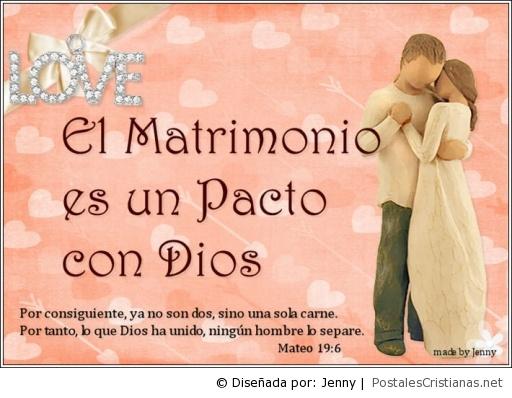 Matrimonio En La Biblia Cristiana : Postal el matrimonio es un pacto con dios postales